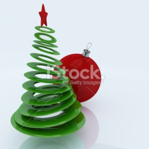 christmas-tree-with-red-globe-stock_photo_by_vlad_baciu